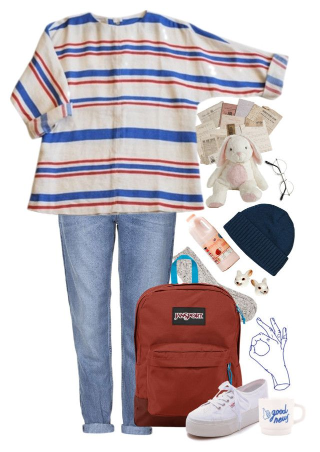 """OKAY!!!!"" by paper-freckles ❤ liked on Polyvore featuring River Island, Topshop, JanSport, Patagonia and Superga"