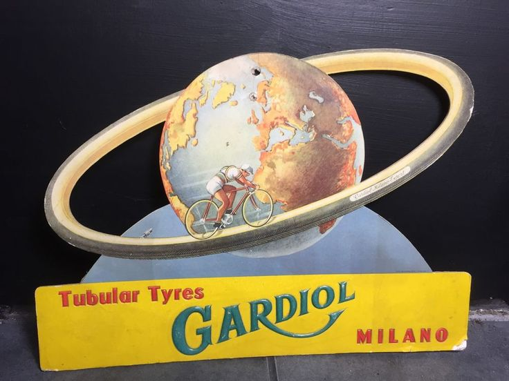 Vintage bicycle, Gardiol Milano, Tyre Company Advertising Sign in Collectables, Advertising, Signs | eBay