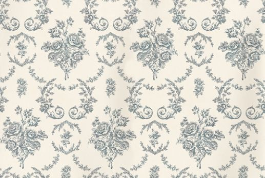 Saratoga Toile (PRL033/01) - Ralph Lauren Wallpapers - A classical repeating floral pattern paper, with arrangements of flowers interplayed with ferns creating a distinctively tranquil appeal. Shown here in Iris. Please request a sample for true colour match. Wide width.