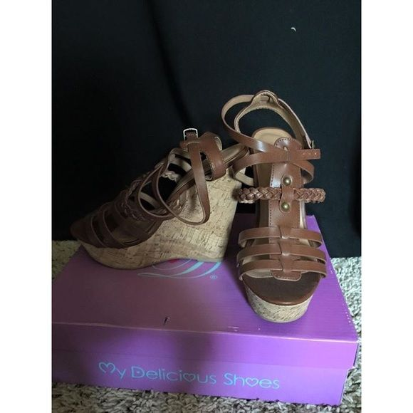 brown wedges brand new! NEVER BEEN WORN. would be really cute with a dress Tilly's Shoes Wedges