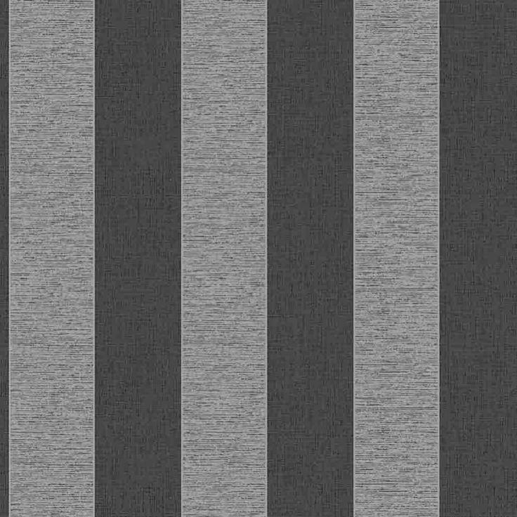 Vogue  Black, White  Grey striped wallpaper: Amazon.co.uk