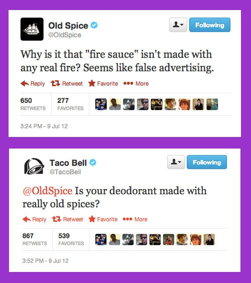 That time Old Spice stirred the pot with Taco Bell, and then Taco Bell did it right back. | 14 Times Brands Showed Their Sassy Side On Twitter