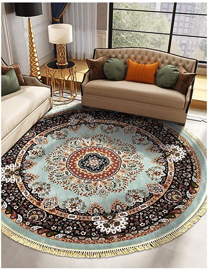 10+ Stunning Round Carpets For Living Room