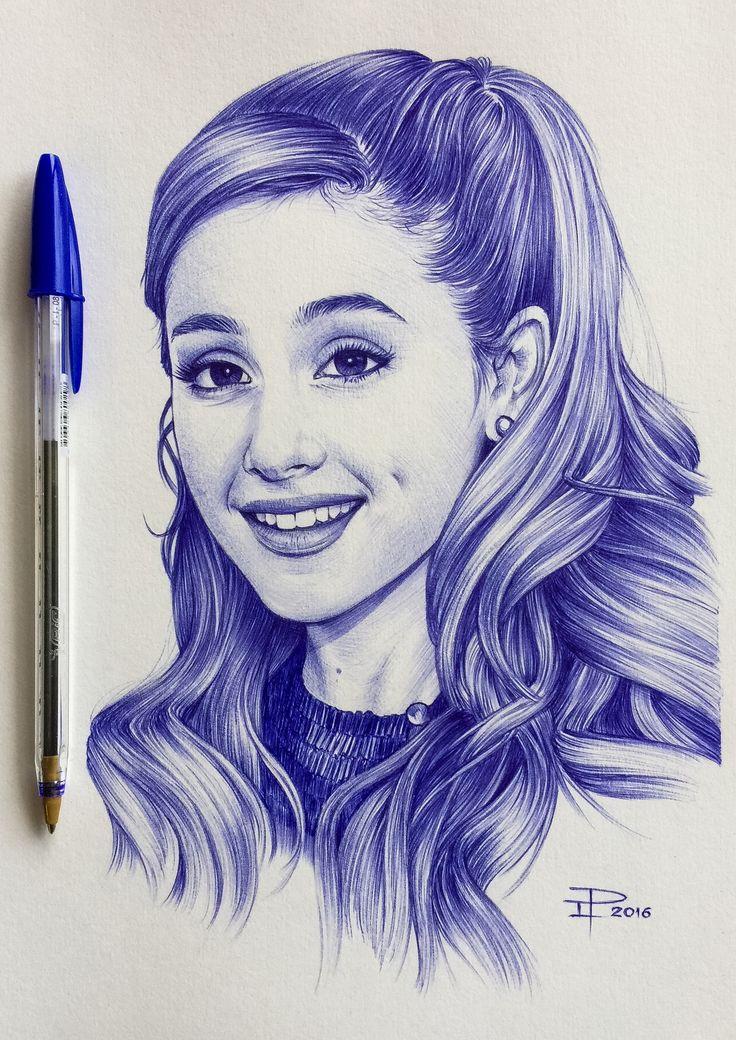 Ariana Grande - ballpoint pen