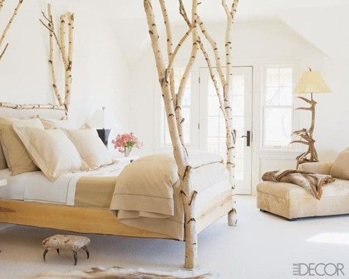 tree trunk poster bed!