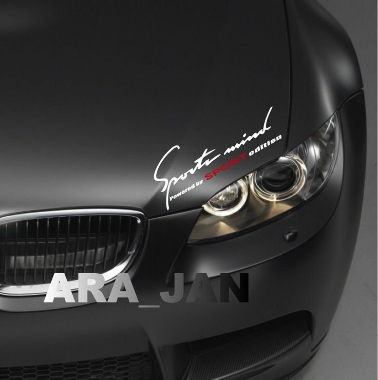 SPORTS MIND Powered by SPORT edition Vinyl Decal sport car racing sticker WHT/R #ARA_JAN