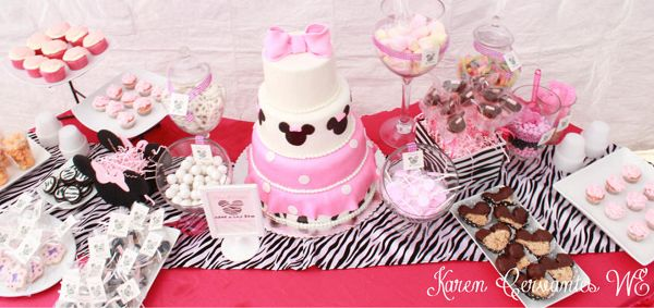Unique Invitation Inspirations - Baby Shower Ideas - Themes minnie mouse dessert table ideas by Karen