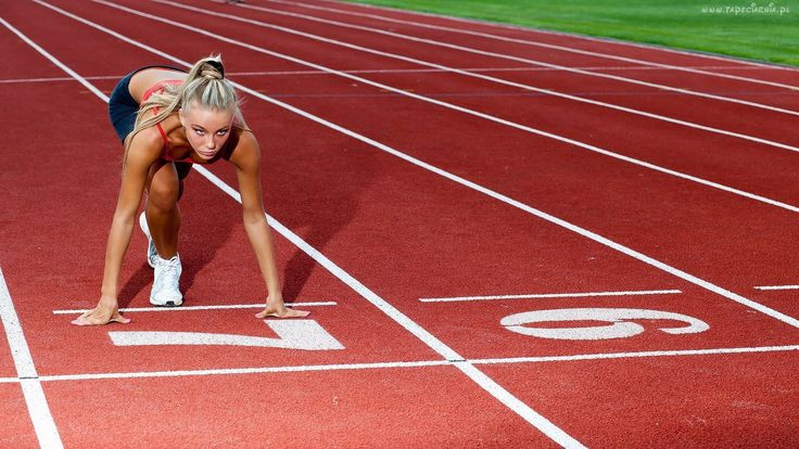 Sportsmenka, Lekkoatletyka, Bieg, Start
