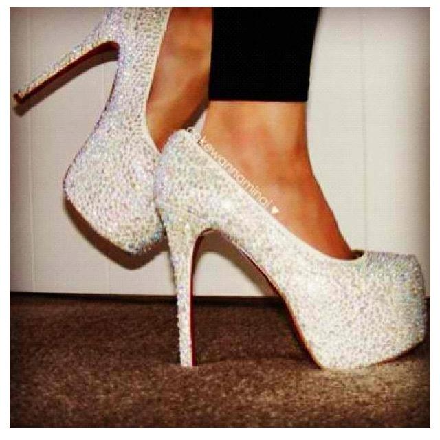 White Diamond Heels