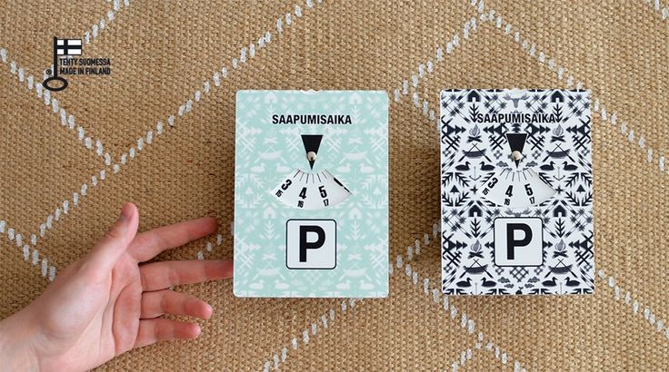 Villi Pohjola -parking disc  Made in Helsinki, Finland in collaboration with Saintex.  www.saanajaolli.com