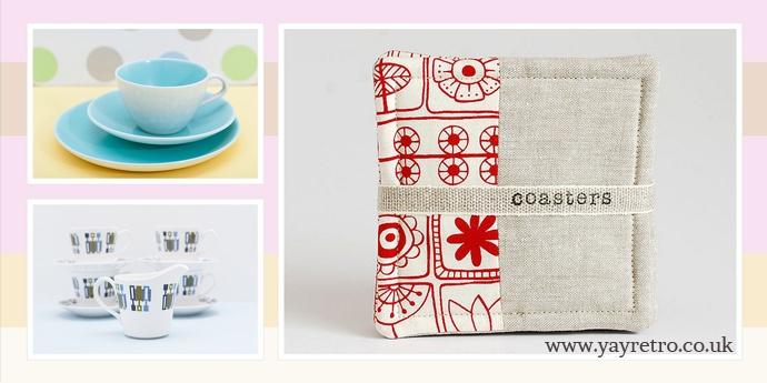 Ochil Tree Handmade Coasters on yay retro!