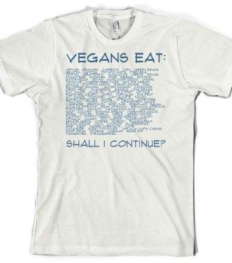 What Do Vegans Eat? - Vegan Shirts - Skreened T-shirts, Organic Shirts, Hoodies, Kids Tees, Baby One-Pieces and Tote Bags