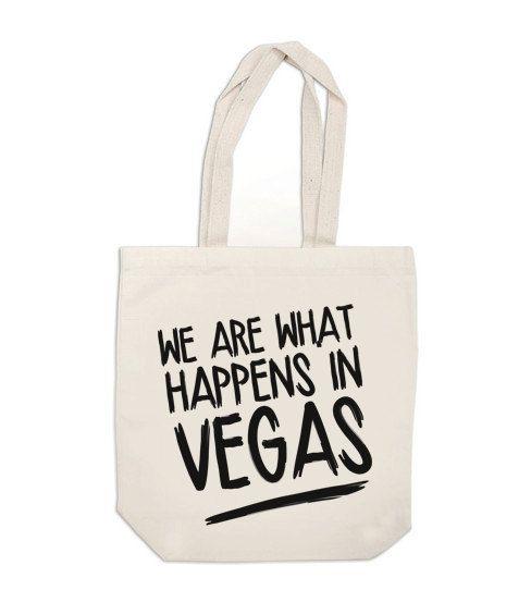 We are what happens in Vegas! #wedding #bridesmaids #vegas  http://weddingbags.com/