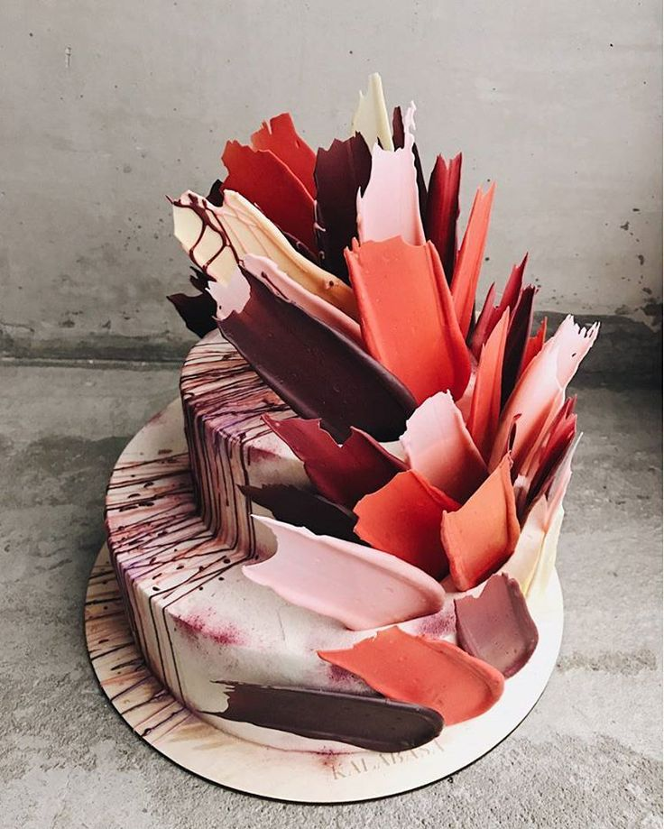 Best Brushstroke Cake Ideas On Pinterest Cakes Creative - Russian bakery uses brushstroke decorations to create the most amazing cakes