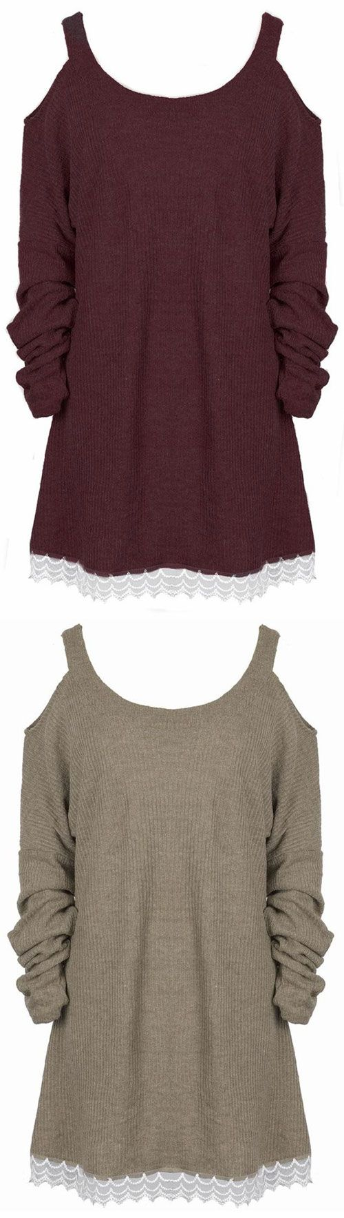 A little sweet to get with $23.99 Only! Free shipping&easy return! This off the shoulder top is detailed with lace hem&A-line design. Show off with Cupshe.com