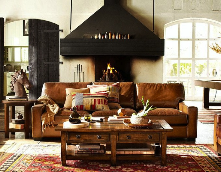 25 best ideas about tan leather couches on pinterest - Living room with leather couch ideas ...