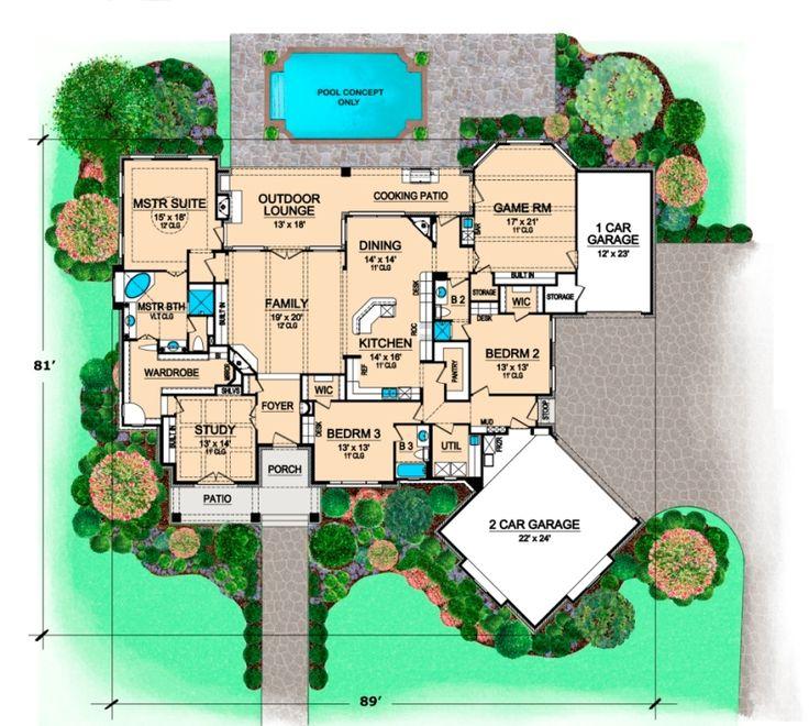 535 best house plans images on pinterest house floor for Aspen house plans
