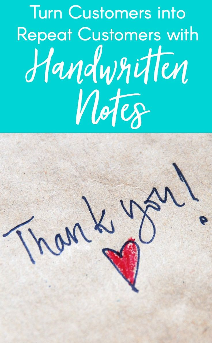 The 25 best customer thank you note ideas on pinterest diy customer retention in your craft business the handwritten note magicingreecefo Choice Image