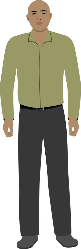 African American customized avatar illustration for eLearning with Captivate, Camtasia and Storyline.