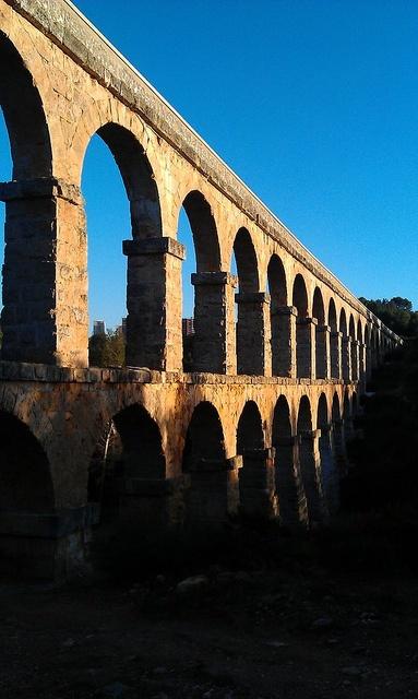 """Pont del Diable"", Roman bridge (aqueduct), from s. XXVII Before Christ. Tarragona Catalonia"