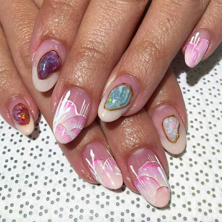 117 best Stone nails images on Pinterest | Rock, Stone and Nailart