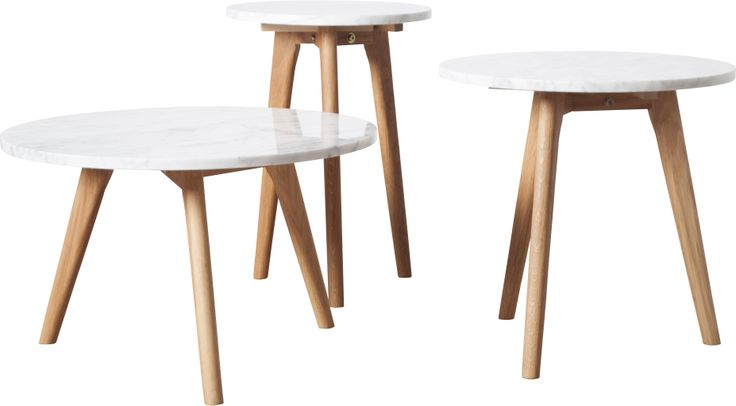 White stone serie side tables