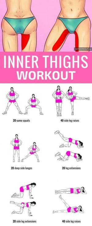 6 Super Simple Moves to Sculpt your Inner Thighs by crystalc by crystalc