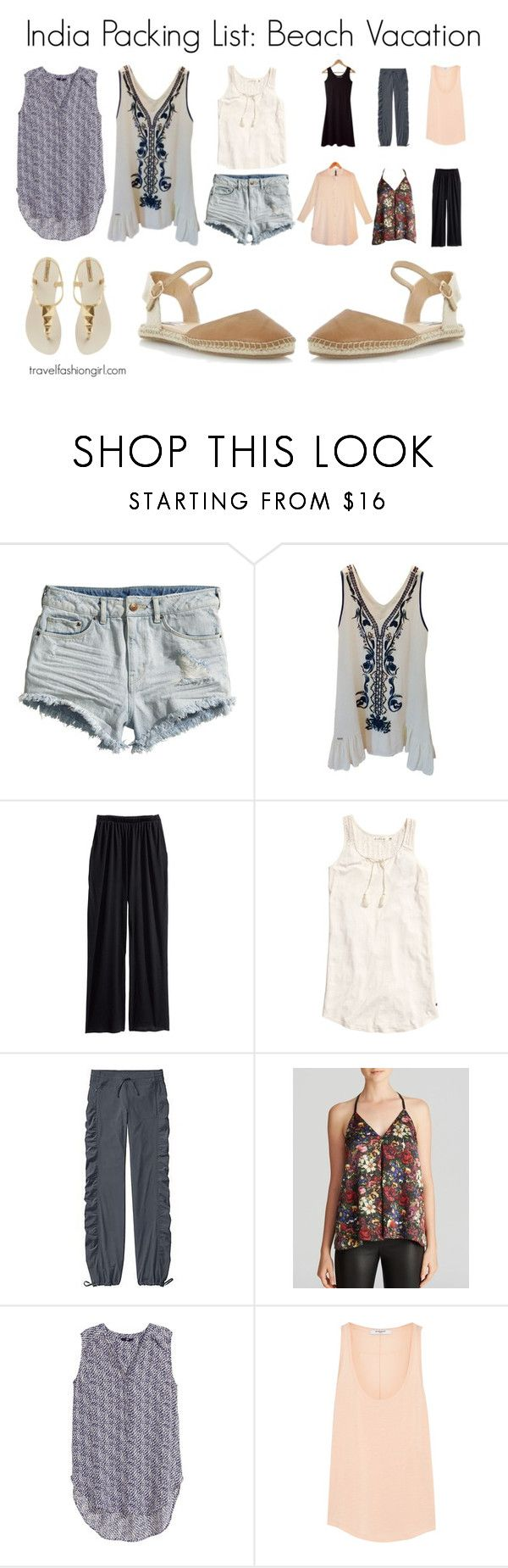 """India Packing List: Beach Vacation"" by travelfashiongirl ❤ liked on Polyvore featuring H&M, Alice + Olivia and Givenchy"