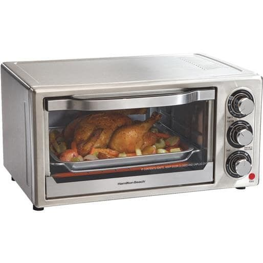 Hamilton-Proctor 6 Sl Toaster Oven 31511 Unit: Each, Silver stainless steel