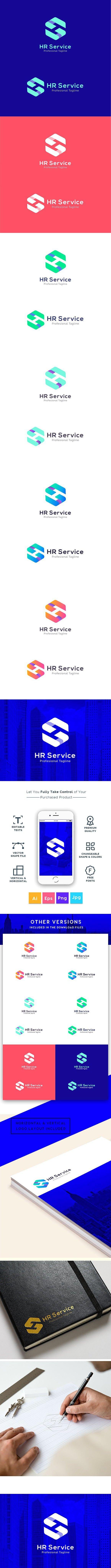 HR Service - H S Letter Logo #humanresource