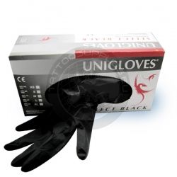 Select Black Latex Gloves - Latex Gloves Blacks - Tattoo supplies since 1999