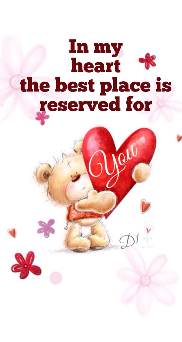 In my heart  the best place is reserved for You