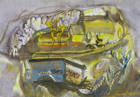 To the Castle, Corfe by Frances Hodgkins – Collection Articles ...