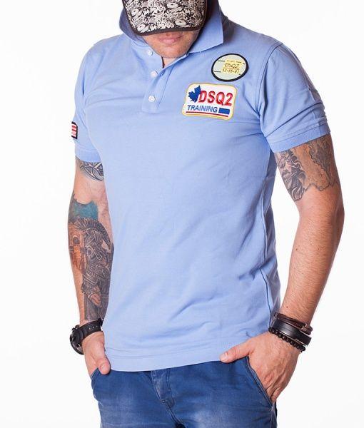 Dsquared Tricouri Polo - DSQ2 Training tricou polo albastru