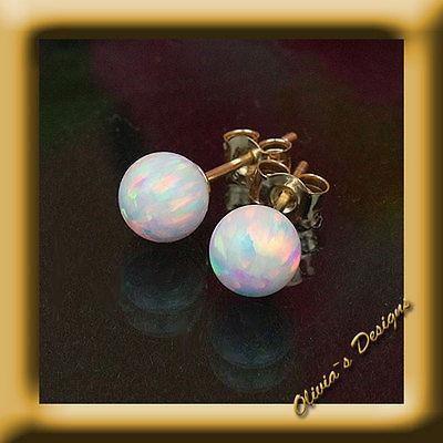 Oktober Geburtsstein Massiv 18 Kt Gold 750 Ohrstecker mit 5mm Weiß Opal  #silver #amber #olivias #smaragd #sapphire #bernstein #emerald #ohrstecker #jewellery #preciousstones