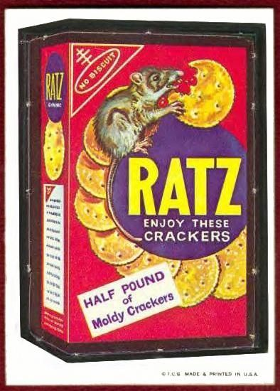 1967 Wacky Packs The Rare Ratz crackers card. (Artwork by ...
