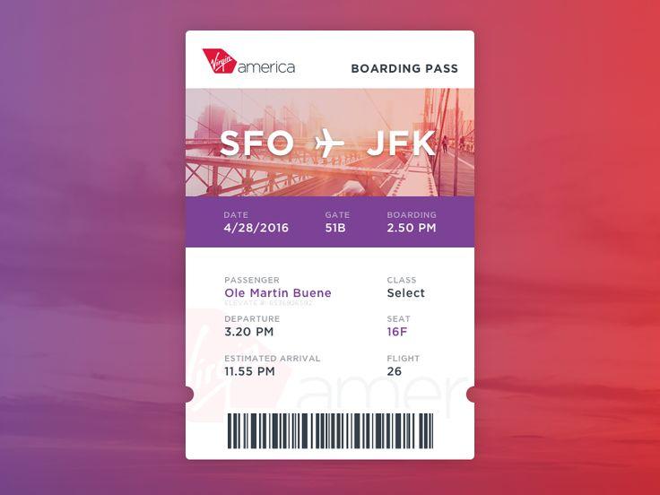 Daily UI #024 - Boarding pass