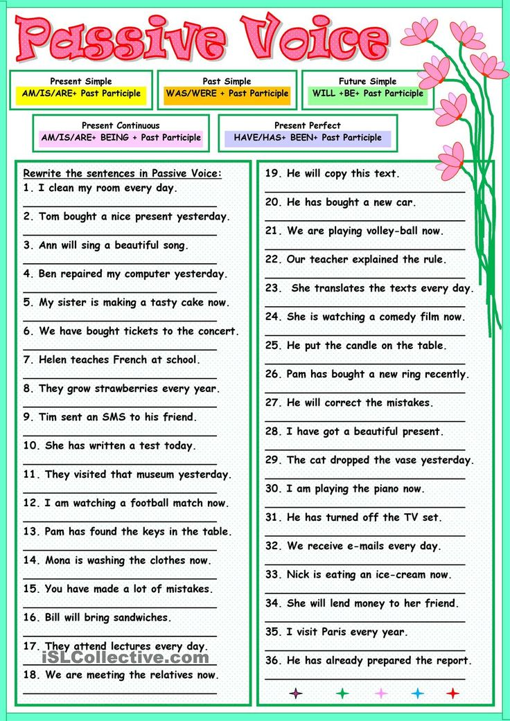 Worksheets Active And Passive Voice 1000 Que Worksheet 1000 images about passive voice on pinterest grammar lessons thirty six sentences for practicing the use of key is included thank you or active read