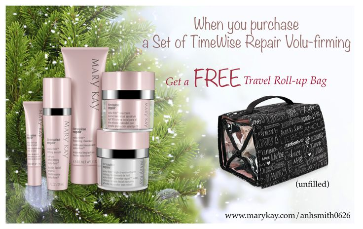 Buy a set of Mary Kay TimeWise Repair Volu-Firming get a Free Mary Kay Travel Roll up bag Only one left