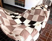 knit blanket, luxury chunky blanket, cottage chic double blanket, double bed cover in pure Merino wool