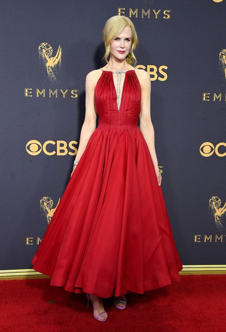 Four pictures one word red carpet lady in red dress