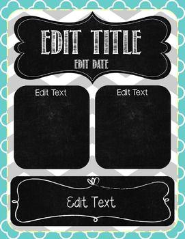 33 best powerpoint templates images on pinterest elementary editable gray teal chalkboard newsletter template toneelgroepblik Image collections
