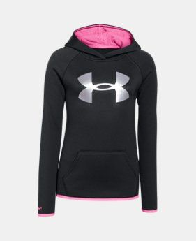 Best Seller Girls' UA Armour® Fleece Big Logo Hoodie LIMITED TIME: FREE SHIPPING…