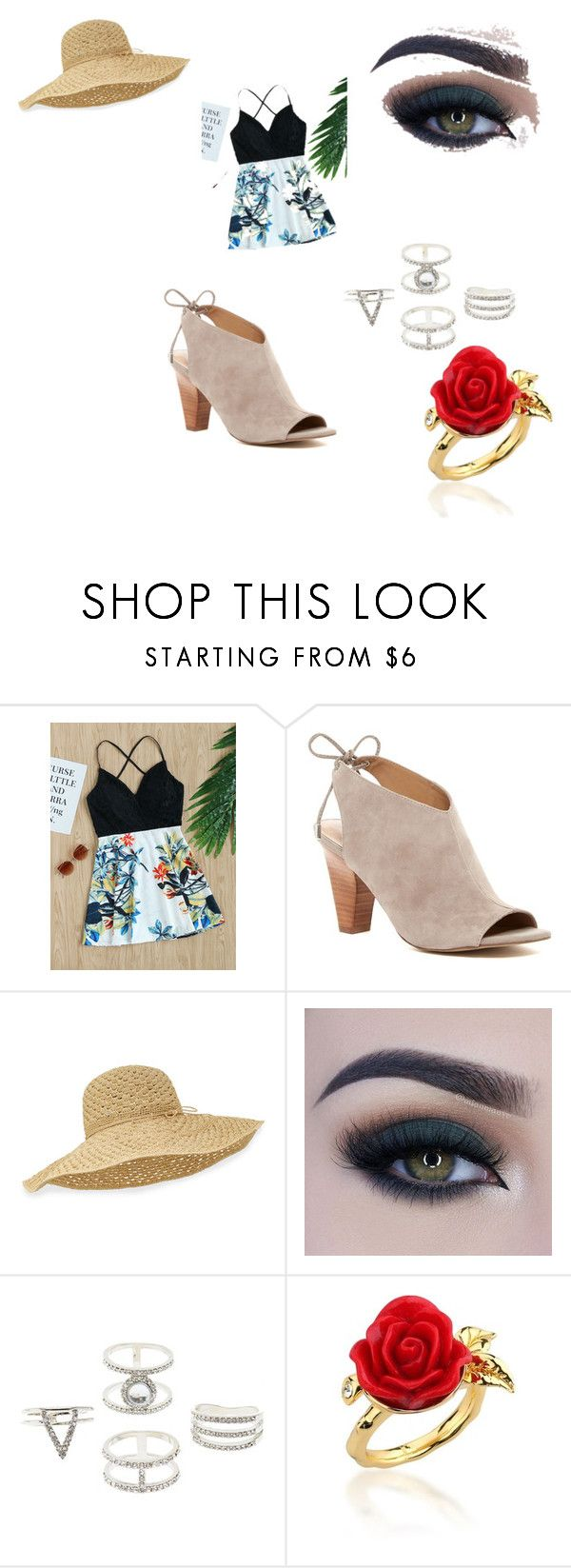 """Go to Cheesecake factory"" by kyladoodle on Polyvore featuring Franco Sarto, Helen Kaminski, Too Faced Cosmetics, Charlotte Russe and Disney Couture"