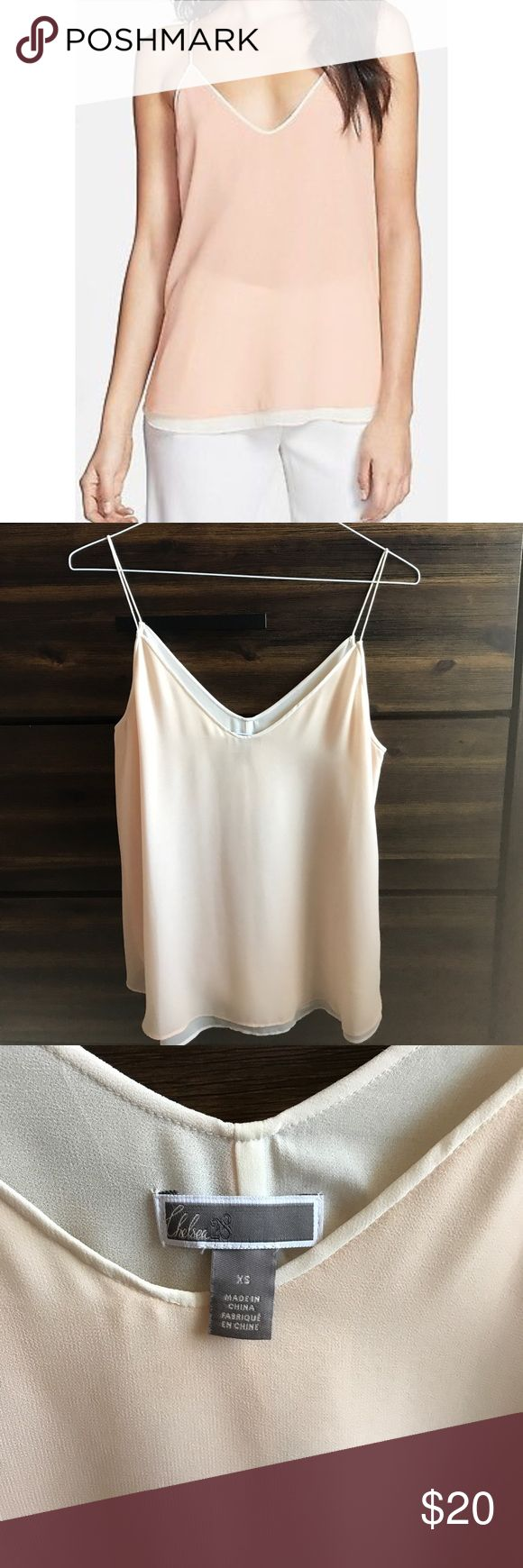 Chelsea28 Tank Top Very soft pink/peach in color with white sheet tank layered underneath. It is very gently worn (once or twice). Nordstrom Tops Tank Tops