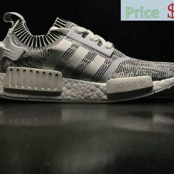 6b3ebd5f174d5 street styles Unisex Adidas NMD R1 PK Glitch Camo Grey BY1911 shoe ...