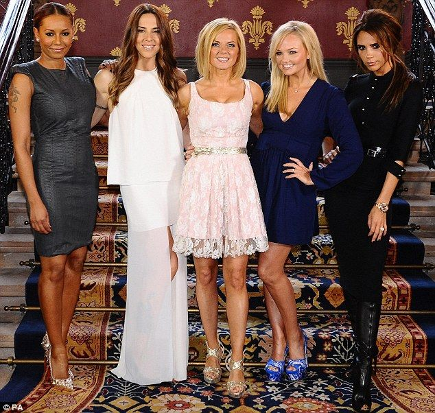 Hot stuff: The Spice Girls (from left to right) Melanie Brown, Melanie Chisholm, Geri Halliwell, Emma Bunton and Victoria Beckham, look better now than they did in 1996
