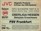 #Ticket  Ticket Oberliga Hessen 90/91 Kickers Offenbach  FSV Frankfurt #nederland