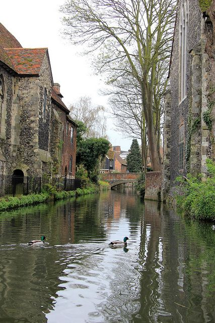 Canterbury, England - the most quaint places I've been - people literally hang out their windows while you walk down cobblestone roads...just what I imagined England to be like