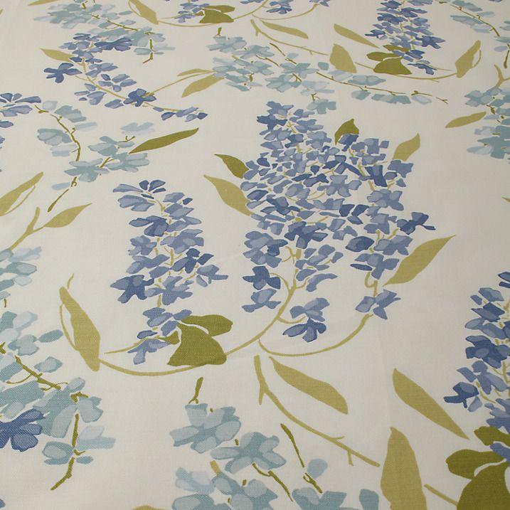Buy John Lewis Wisteria Fabric, Blue Online at johnlewis.com